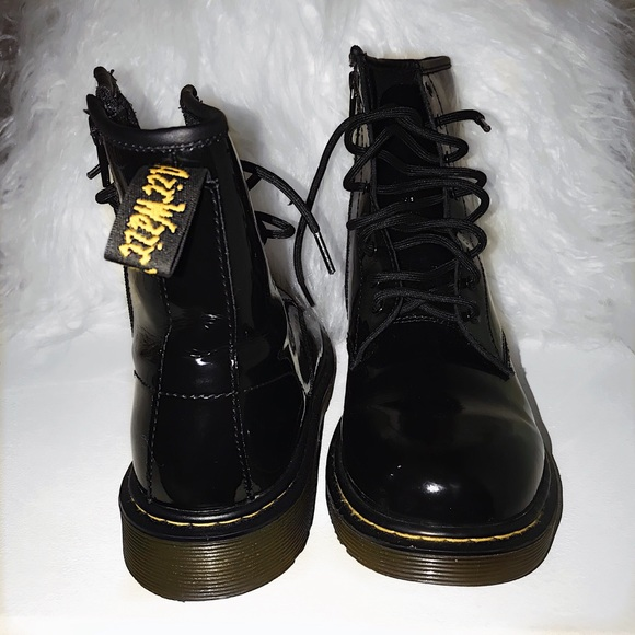 Special Offer Dr. Martens DELANEY PATENT (Black) Shoes New